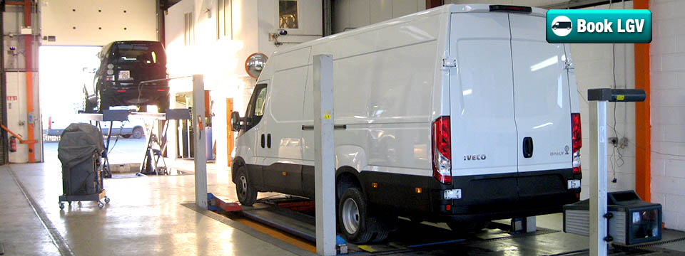 Book Your LGV test in our approved vehicle testing centre
